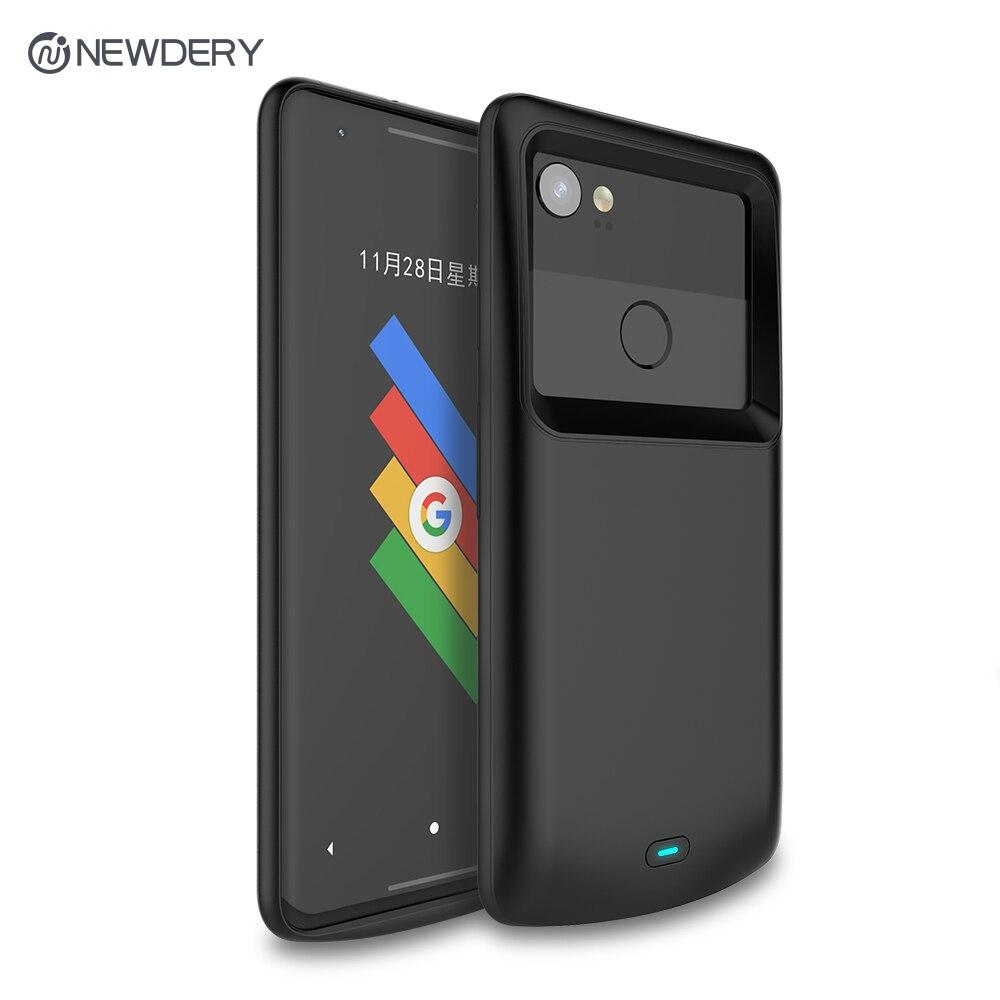 Newdery batterie chargeur cas pour Google Pixel 2 2XL 4700 mah Exclusive Mince Portable Cas De Charge pour Pixel 2 XL 5200 mah