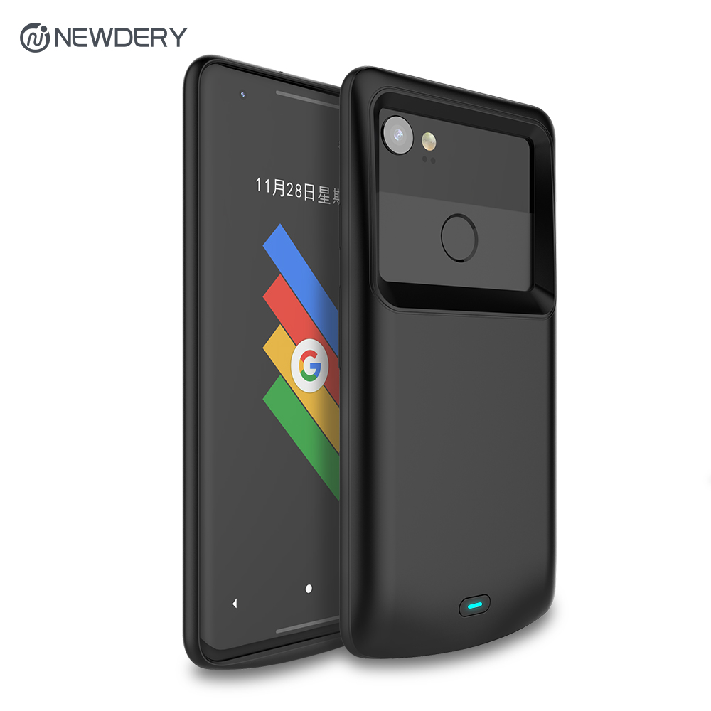 Newdery battery charger case for Google Pixel 2 2XL 4700mAh Exclusive Slim Portable Charging Case for Pixel 2 XL 5200mAh