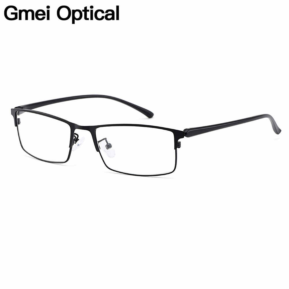 Gmei Optical Men Titanium Alloy Eyeglasses Frame for Men Eyewear Flexible Temple Legs IP Electroplating Alloy Material Y2529