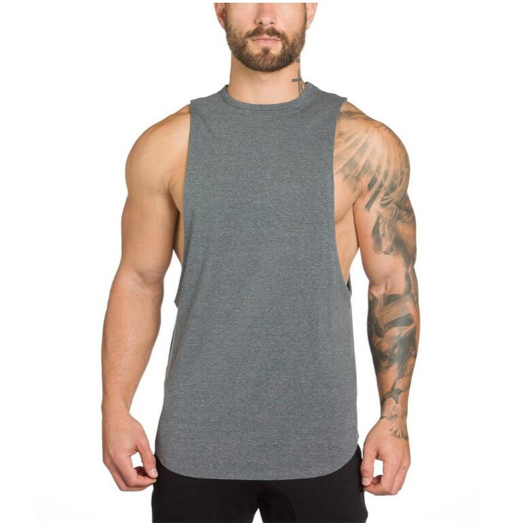 Brand Gyms Stringer Clothing Bodybuilding Tank Top Men Fitness Singlet Sleeveless Shirt Solid Cotton Muscle Vest Undershirt 37