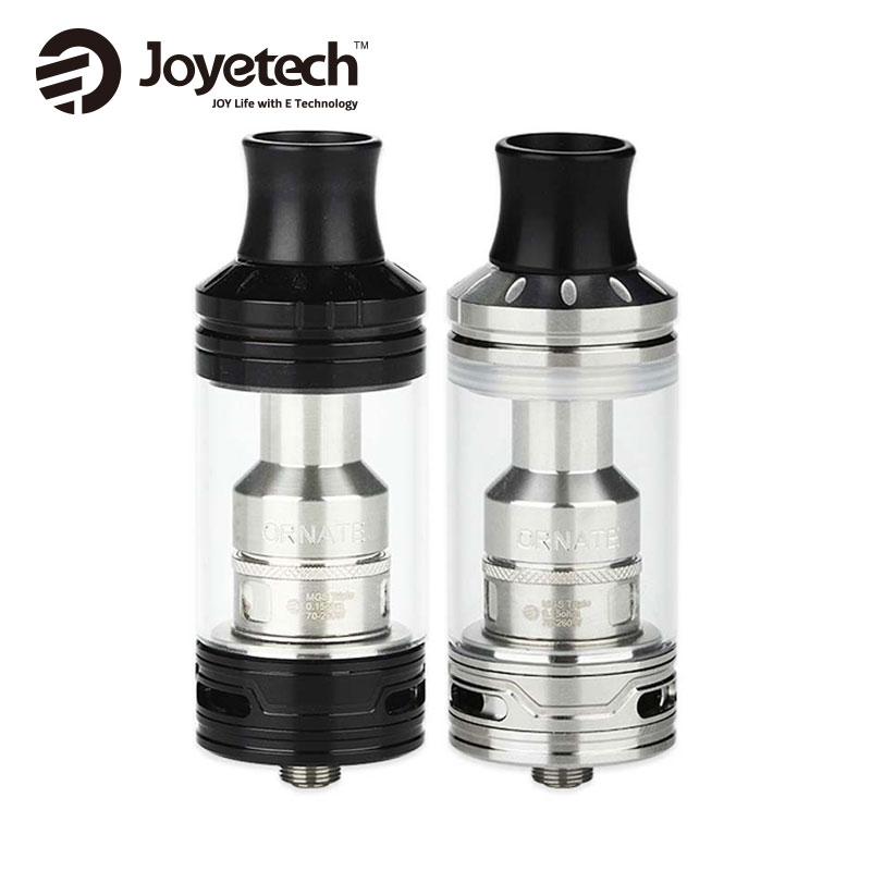 Original Joyetech Ornate Atomizer 6ml E juice Capacity ORNATE Tank 25mm diameter Adjustable Airflow With MGS