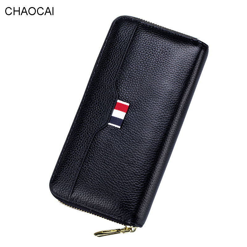 Real Genuine Leather Women Wallets High Quality Cell phone Card Holder Bag Long Lady Wallet Leather Purse Clutch high quality first layer soft genuine leather men s credit card holder clutch wallet phone purse vintage design long wallets