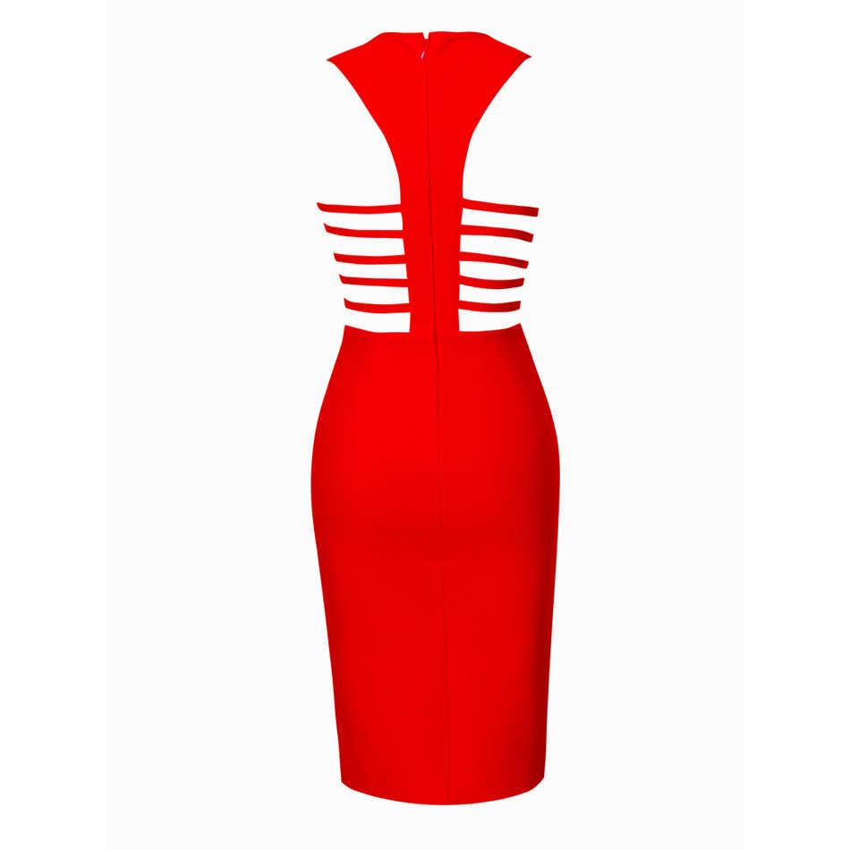 Лидер продаж Sexy Глубокий V средства ухода за кожей Шеи красное повязное платье для женщин обтягивающее платье vestidos вырез по колено вечерние Клубные FH11