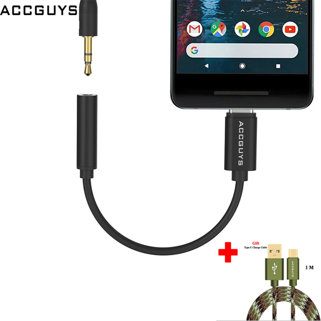 fd4750ac266 ACCGUYS USB Type C to 3.5mm AUX Audio Adapter Calling Music Earphone  Original DAC Chip Cable for Huawei P20 LG Pixel 2XL HTC U11-in Mobile Phone  Adapters ...
