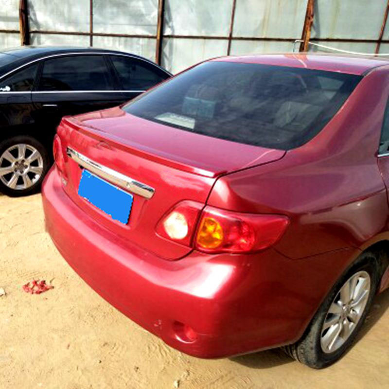 For <font><b>Toyota</b></font> <font><b>Corolla</b></font> 2007 2008 2009 <font><b>2010</b></font> 2011 2012 2013 Primer Color Rear <font><b>Spoiler</b></font> ABS Plastic Tail Trunk Lip Wing image
