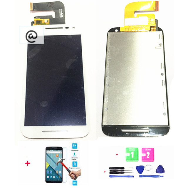 100%Tested LCD Display Screen Touch digitizer Assembly Replacement For Motorola Moto G3 G 3rd Gen White Black