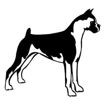 12.2*11.3CM Boxer Dog Car Stickers Funny Vivid Vinyl Decal Motorcycle Car Styling Accessories Black/Silver S1-0596 image