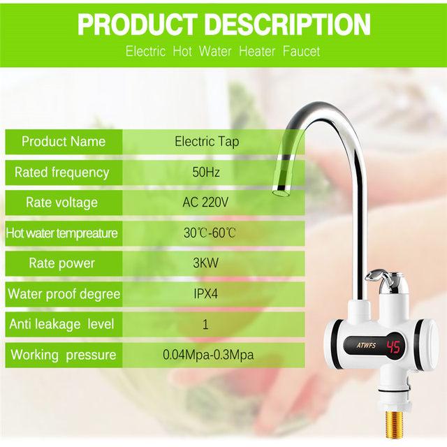 Online-Shop Elektrischer Warmwasserhahn Warmes Wasser Heizung ...