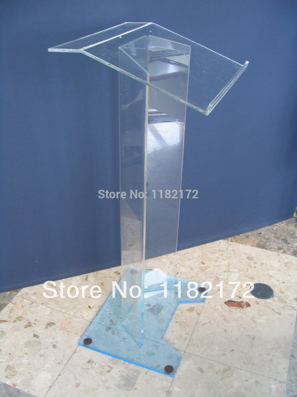Clear Edge Acrylic Podium Pulpit Lectern,Well Polished Acrylic Lectern