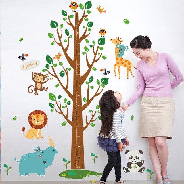 diy large big tree children height charts wall stickers cartoon
