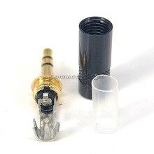 10 шт. DIY 3.5 мм разъем для наушников 3.5 мм штекер стерео аудио разъем 3 pole разъем для 6 мм кабель