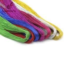 Lucia ремесла 100y/lot мм 1 мм металлик нитки строка проволока карты кос DIY одежды материалы ручной работы интимные аксессуары 033004002