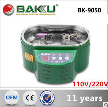 BK - 9050 ultrasonic cleaning machine chip, clock and watch, dentures, mobile phone, glasses, jewelry cleaners  110V/220V household glasses dentures mobile phone motherboard ultrasonic cleaning machine 50w