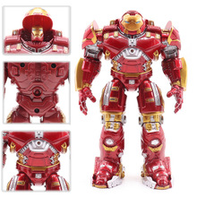 Action Figure Avengers 2 Iron Man PVC Model Hulkbuster Armor Joints Movable Figures 18CM Mark With LED Light Collection Toys #E