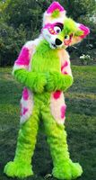 OISK Beautiful Furry Fursuit Mascot Costume Halloween Christmas Birthday Celebration Carnival Dress Full Body Props Outfit