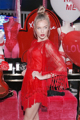 Fiesta de la moda de encaje bordado perspectiva three cuartos irregular fluyen su dress bohemio rojo/negro/marrón