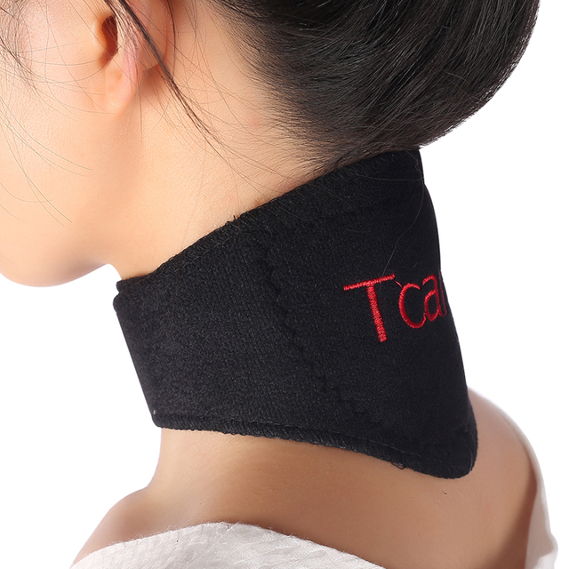 * Tcare 1Pcs Tourmaline Neck Belt Self-heating brace magnetic Therapy Wrap Protect band Neck Support Massager belt Health Care 1