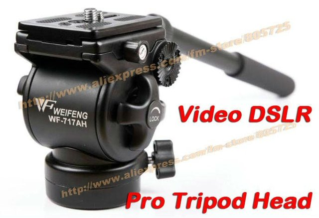 Free shipping WF 717AH Professional Photography Video DSLR Fluid Tripod Head 107200