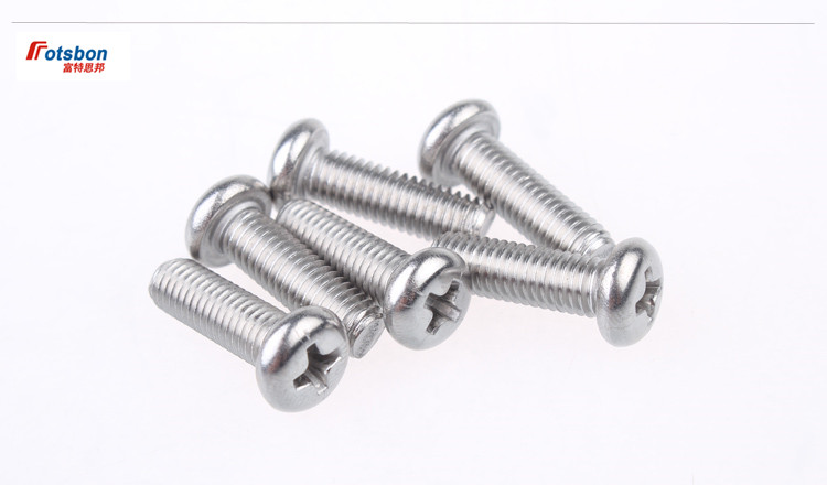 100pcs M8 DIN7985/DIN966 ISO7047 Cross Recessed Raised Counter Pan Head Screws 304 Stainless Steel Flat Tail