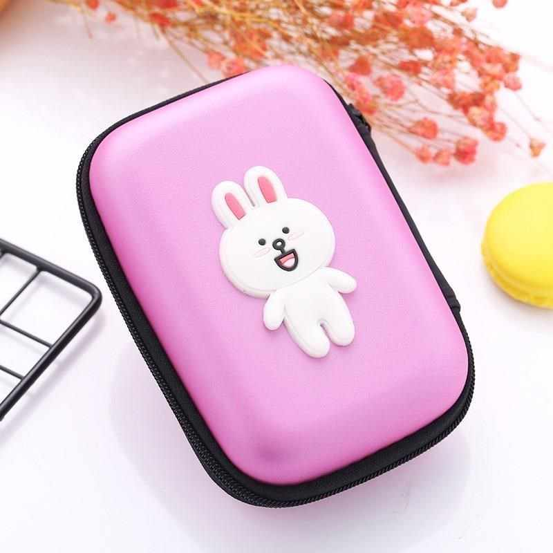 Cute Cartoon Coin Purse Pink Rabbit Design Mini Wallets for Women Girls Small Kids Wallet Lovely Coins Pouch bolso mujer