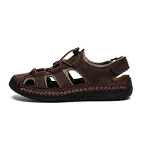 Genuine Leather Men Shoes Men Sandals Summer Quality Beach Slippers Casual New Large Size Fashion Sandals Big Size 38 48
