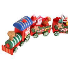 Christmas Wooden Train Decoration Ornament