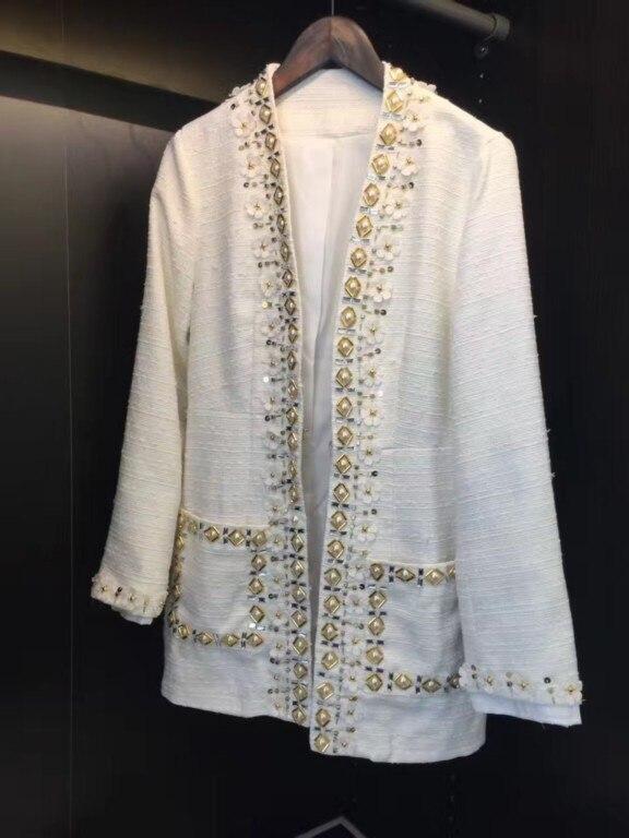 Custom White Coats | Fashion Women's Coat 2017