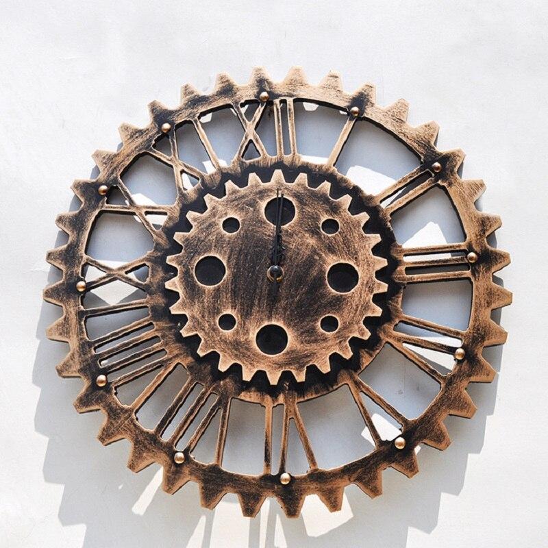 clock gear bar wall clock saat reloj wall clock relogio de. Black Bedroom Furniture Sets. Home Design Ideas