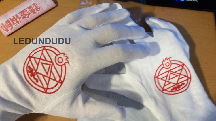 Edward Elric Gloves Left Wearing