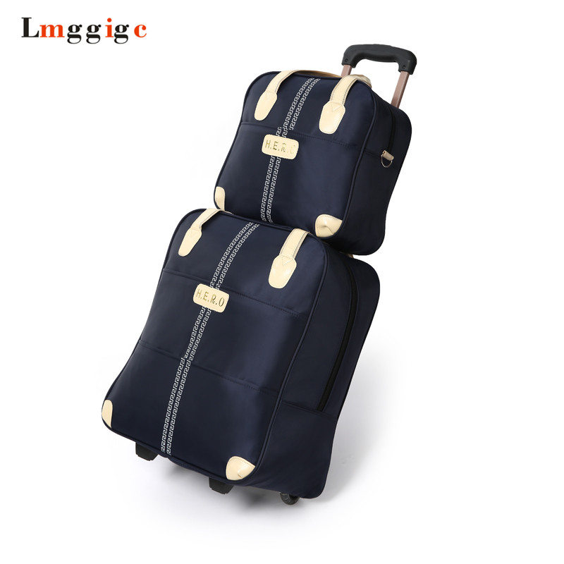 Waterproof Luggage Bag Set, Oxford Cloth Rolling Travel Suitcase,Large Capacity,Trolley Carry-Ons Dragboxes Handbag With Wheels