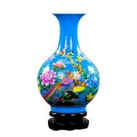 Jingdezhen Porcelain Flower Ceramic Flower vase wedding decor Holder Models Selection Desk Christmas Home Decoration accessories