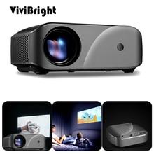ViviBright mini projektor F10 1280x720p 2800 lumenów HDMI USB 3D projektor led hd kino domowe wsparcie 1080P tv, pudełko z głośnikiem