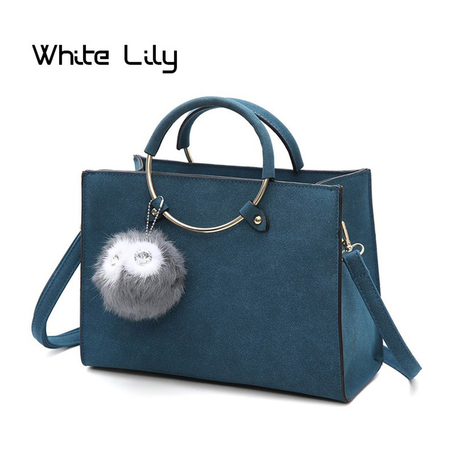 New Leather Handbags Women Bag High Quality Casual Female Bags Round Top Handle Tote Brand