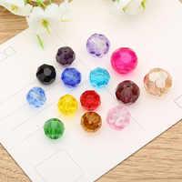 6mm 8mm 10mm 12mm Tschechische Facet Rondelle Glas Runde Lose Perlen Für Schmuck Handgemachte DIY Perles spacer Kristall Perlen Großhandel