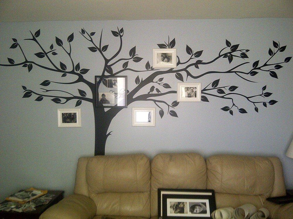 PopDecors-Super grand arbre White-133inch W-belle arbre stickers muraux pour les chambres d'enfants adolescentes filles garçons