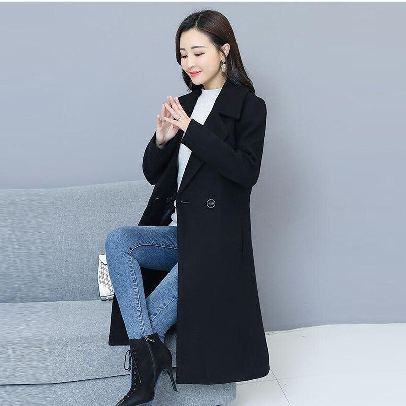 Black Streetwear Office Lady Automne Femelle Pull Hiver Manteau Femmes Cachemire Vêtements Cardigans Vent Pour Long Casual Noir 2018 Smsf cTJ13KFul