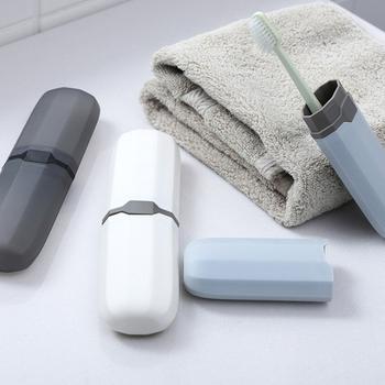 Podróż przenośne na szczoteczkę do zębów uchwyt do pasty do zębów schowek akcesoria łazienkowe Camping pokrowiec na szczoteczkę do zębów tanie i dobre opinie Aihogard YS190268 Ekologiczne Zaopatrzony Dwuczęściowe