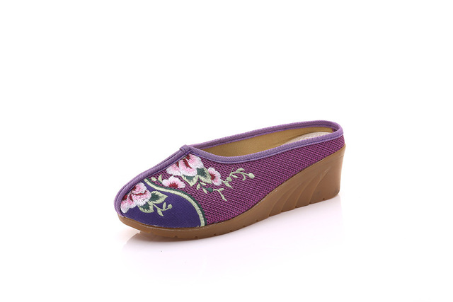 Woman Embroidered Shoes Shallow Round Toe Ballet Flats Casual Fashion Platform Black Gray Oxford Shoes 2017 Spring