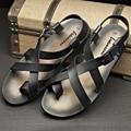 2015 Fashion summer fashion leather men sandals Roman sandals men shoes breathable casual leather men Sandal shoes, EU38-43