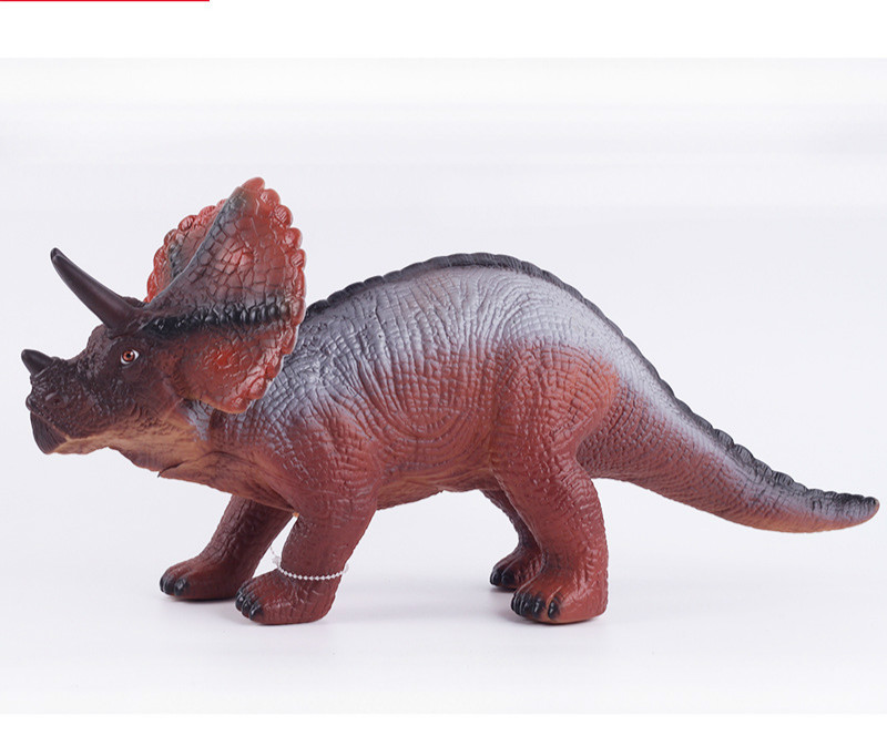 Large Size Dinosaur Toy Triceratops Stegosaurus Soft Animal Model Collection for Boys Action Figures for Kids Toys a toy a dream latex mask toy tyrannosaurus rex triceratops mask cosplay carnival dinosaur mask halloween toys props model toys