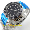 Parnis 40mm Black Dial Ceramic Rotating Bezel Sapphire Glass Automatic Movement Men Watch