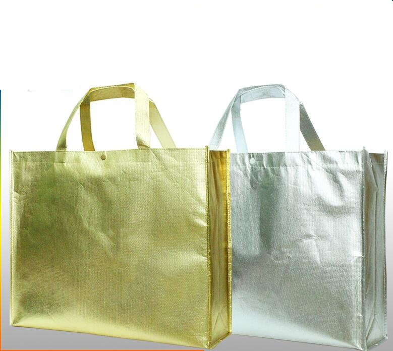 Popular Gold Shopping Bag-Buy Cheap Gold Shopping Bag lots from ...