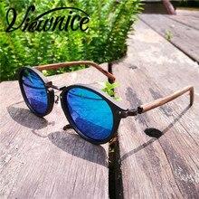Viewnice nuevas gafas de madera gafas de sol hombres Retro Clásico gafas de madera y metal Dom vidrio sol Polarizadas Super star hombre 7252