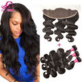 8A Malaysian Body Wave Hair With Closure 3 Pcs Malaysian Virgin Hair With Frontal Closure Bundles Sexy Formula Hair With Frontal