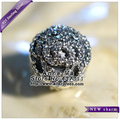 2015 NEW S925 Silver Shimmering Rose with Clear CZ Clip Charm Bead Fit European Woman Jewelry Bracelets Necklaces Pendant CL046