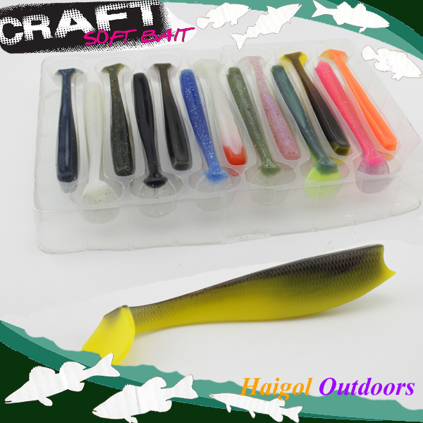 Mix colors kits package soft lure -14 cm soft bait soft fishing lure #H0905-140 mix color package on soft lure 15 cm shad bait soft bait for boat fishing