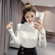 2018 Women Sweaters Autumn Pullovers Winter Long Sleeve Femme Casual Knitted Slim Sweater Turtleneck elasticity sweaters(China)