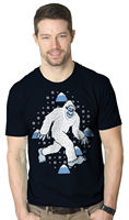 Yeti Ugly Sweater T Shirt Cool Christmas Shirt Snow Tee Fashion 2017 Top Tee Mens Round