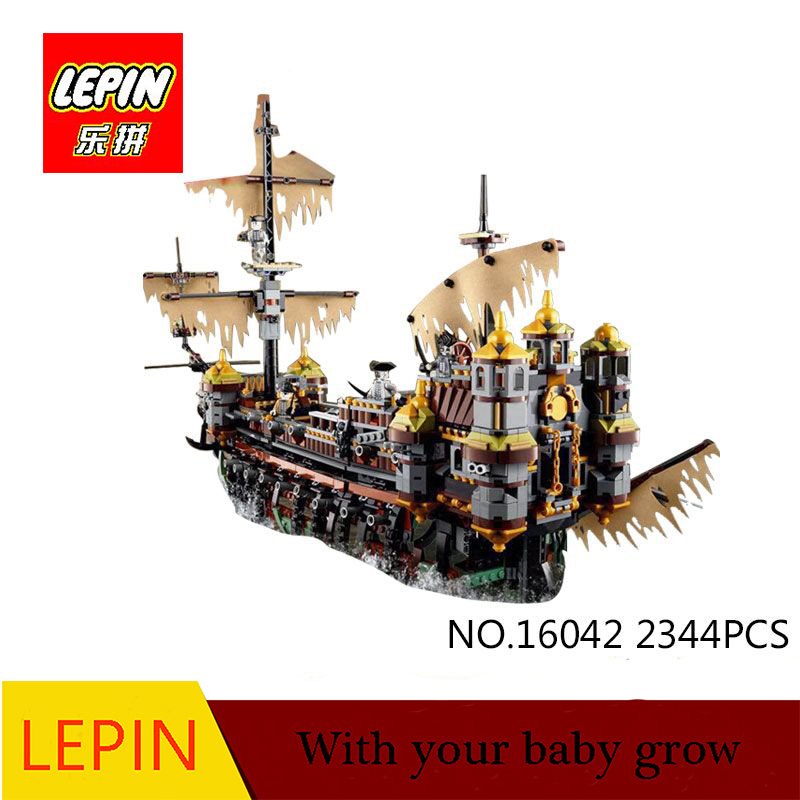 DHL Lepin 16042 2344Pcs Pirate Ship Series The Slient Mary Set Children Educational Building Blocks Bricks Toys Model Gift 71042 lepin 16042 2344pcs pirate of the caribbean ship slient mary children educational building blocks bricks compatible 71042 toys