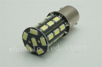 50 pcs Car 5630 27 SMD 5730 LED 1156 BA15S P21W Trun Signal Light Instrument Bulb Indicator Lamp DC 12V white